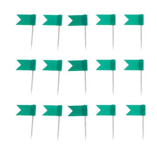 100pcs Green Flag Push Pins Nail Thumb Tack Cork Board Map Drawing Pins For Notice Cork Board World Map (Flag Thumb Tacks)