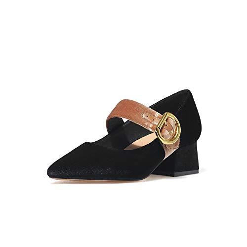 Sandales EU Femme Compensées 5 Noir Noir Aimint ERR00064 36 8wvqUx56