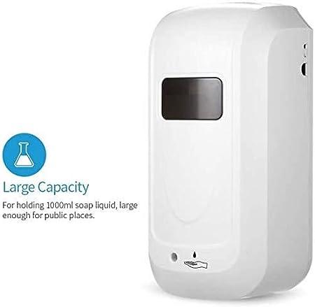 TTPF Dispensador de desinfectante con Sensor 1000ML sin Contacto desinfectante Tipo de Pared dispensador de la m/áquina de pulverizaci/ón Aerosol Alcohol Mano desinfecci/ón,White