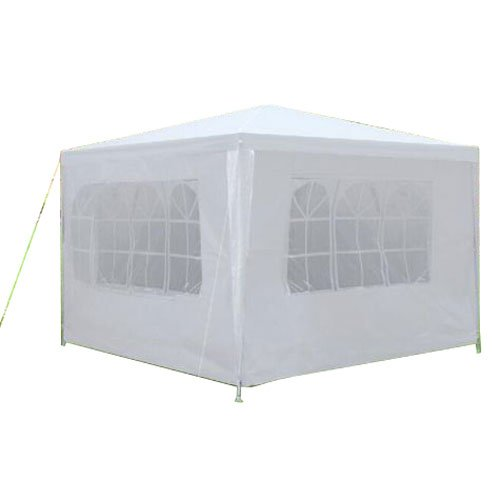 Elegdy 3 x 3m 3面防水テント スパイラルチューブ付き ホワイト B07KPZ59CW