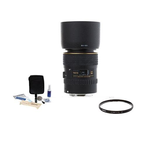 Tokina AT-X 100mm f/2.8 PRO D Macro Lens Kit,for Canon EOS with Tiffen 55mm UV Filter, Professional Lens Cleaning Kit by Tokina
