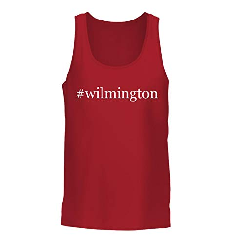 #Wilmington - A Nice Hashtag Men's Tank Top, Red, Large