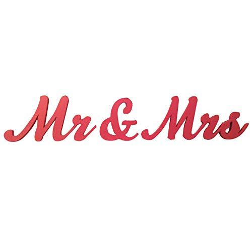 Rojo boda letras - Señor Y Señora Cartel - nuevo - gran ...