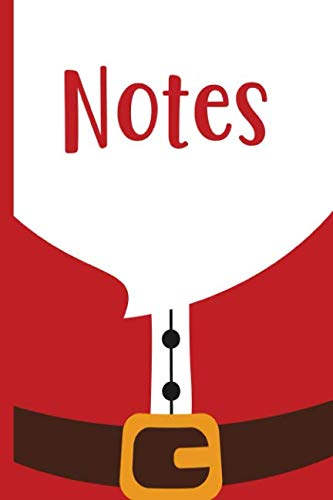 Santa Claus Suit Notes: Christmas Wide Ruled Notebook