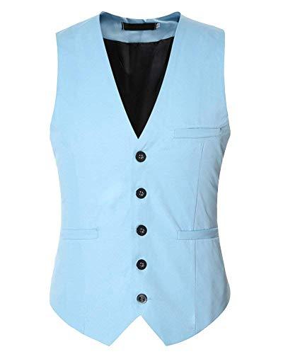 Fashion Base Hommes Pour Business De Lake Gilet Blau Smoking Taille Élégant Vêtements Casual Saoye Couleur Unie Fit Coupe Slim 10d1qF