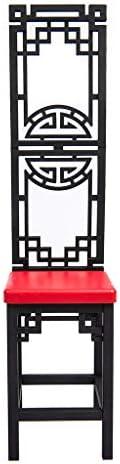 1/6スケール 椅子 チェア 12インチアクションフィギュア用 人形 装飾 アクセサリー 黒 赤