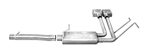 Aluminized Body Oval (Gibson Performance Exhaust 5674 Cat-Back Super Truck Exhaust Aluminized 2.5 in. Tubing 6 x 19 in. Oval Body 3 in. Center Inlet 2.5 in. Dual Outlet 6 in. Polished Slash-Cut Tip Exit In Front Of Rear Tire Cat-Back Super Truck Exhaust)