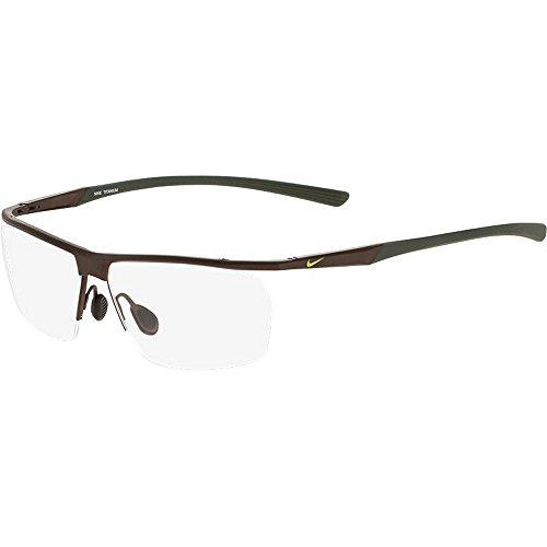 Eyeglasses NIKE 6060 202 SATIN WALNUT/CARGO KHAKI by NIKE