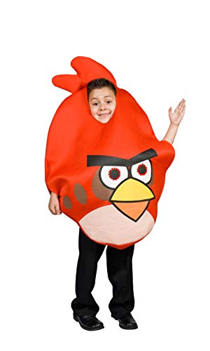 Angry Bird Costume Red for Kids Light up Eyes Size S M 4 5 6 7 8 9 (S 4-6) -