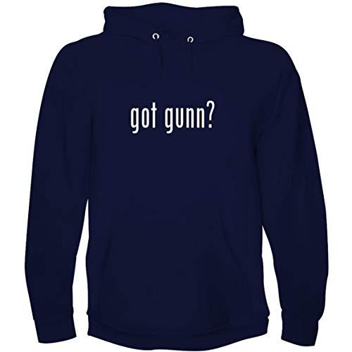 The Town Butler got Gunn? - Men's Hoodie Sweatshirt, Navy, X-Large (Best Of Gia Gunn)