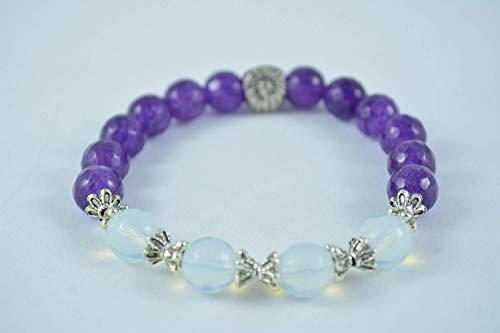 - Handmade Women's Amethyst Stretch Bracelet
