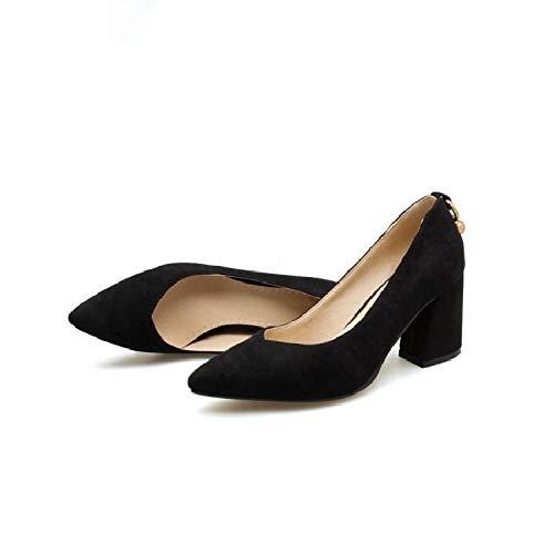 Mujer Los Pies De Tacón zapatos Grandes con tacón 40414243 De De Alto Black Yukun Espesor Zapatos de Era De De Gran Tamaño alto Zapatos Caída Fina xw6XgAOYq