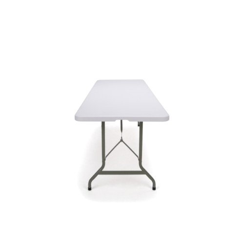 """Essentials Center Folding Multipurpose Utility Table - Sturdy Card/Conference/Office/Craft Plastic Table 30"""" x 96"""", White"""