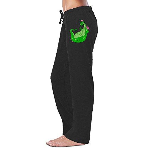 HYD Women's Workout Pants Pete's Dragon Cute Black