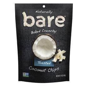 Save$ Bare Baked Crunchy Coconut Chips Toasted 1.4 OZ Bag 10 Packs!