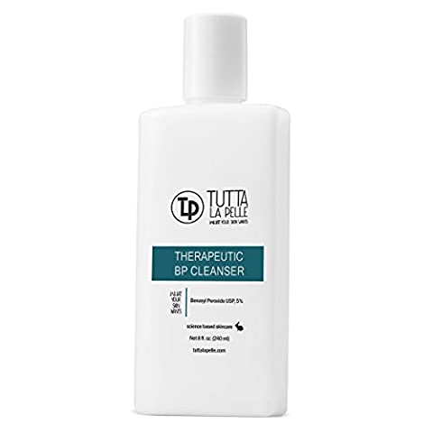 TLP 5% Benzoyl Peroxide Acne Wash - THERAPEUTIC BP - 8 oz (Benzoyl Peroxide Face)