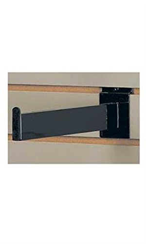 Lot of 8 New Black Finish 12'' Dimensional Slatwall Faceout - Straight Tube