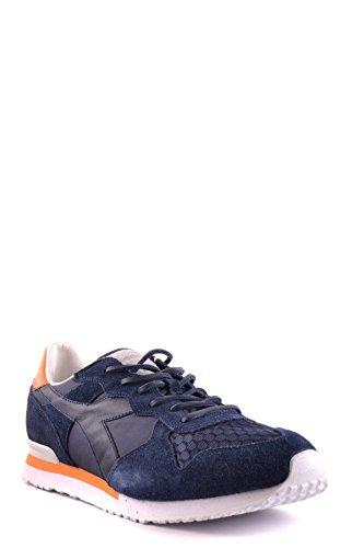 Diadora Erfgoed Mannen Mcbi094014o Blauwe Suède Sneakers