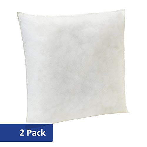 AmazonBasics Pillow Insert - 18-Inch Square, 2-Pack