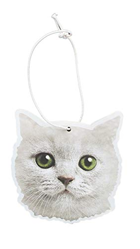 JUST FUNKY White Cat Cupcake Scented Hanging Air Freshener