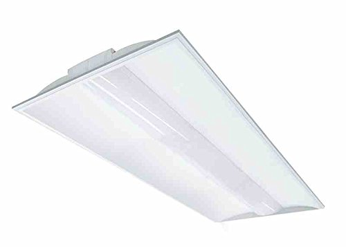 50W 2X4 Lay-in Troffer Mount LED Fixture w/ Emergency BatteryBackup - 6 300 lm - 0-10V Dimmable