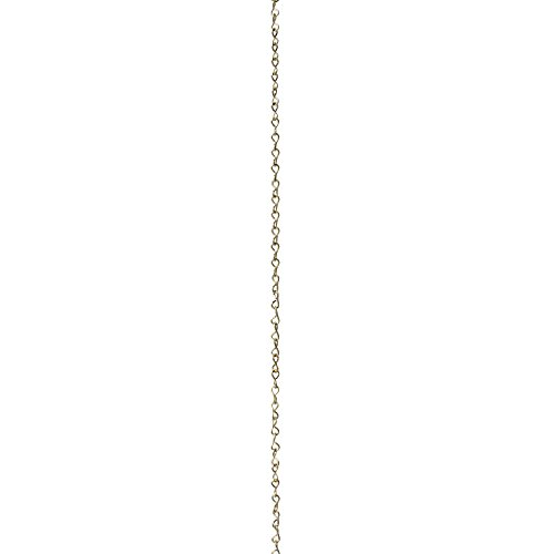 RCH Hardware CH-S50-16-PB 14 Gauge Decorative Solid steel single Jack Fixture Chain | 1 Foot increments | Polished Brass Finish