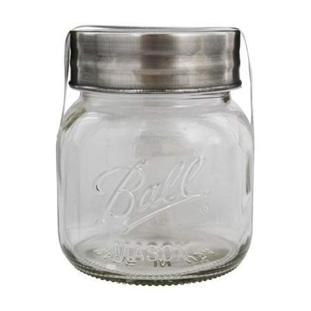 Ball Extra Wide Half-Gallon Decorative Mason Jar with Metal Lid, Clear, 64 Ounces -
