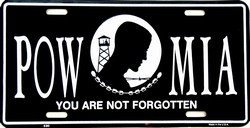POW MIA License Plate