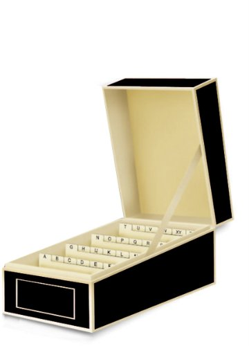 Visitenkartenbox in schwarz von Semikolon