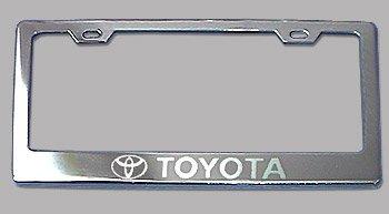 toyota chrome license plate frame