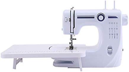 Mini máquina de coser de mano eléctrica de 12 hilos con cerradura de escritorio y doble aguja