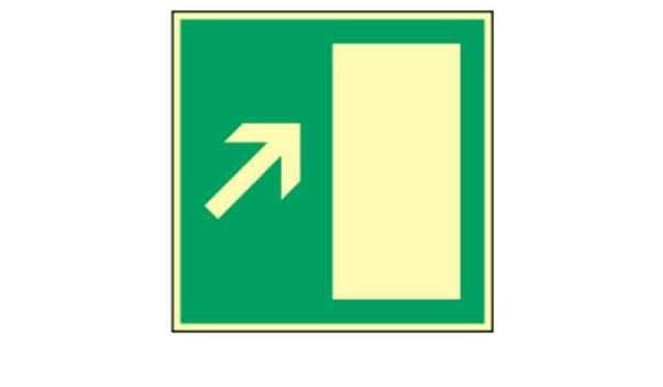 Cartel ext rettungs vía Derecho Escaleras arriba Highlight ...
