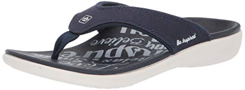 - Spenco Women's Yumi 2 Inspiration Sandal Flip-Flop, Deep Navy, 9 Medium US