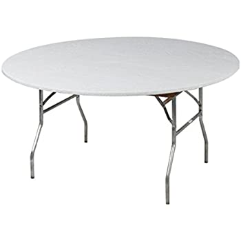 Amazon Com Kwik Covers 60 Quot Round White Fitted Table Cover