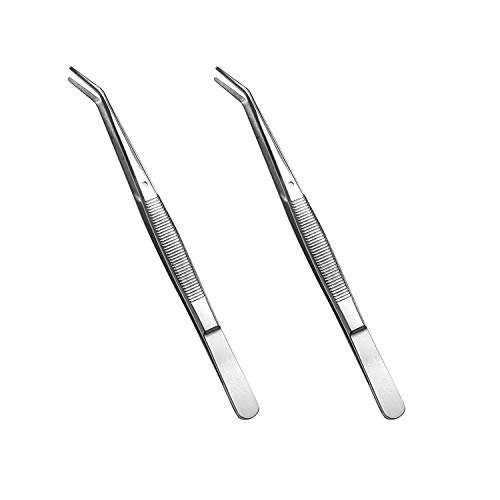 Best Price 6-inch Stainless Steel Sewing Machine Tweezers Set (2-pc) with Curved Serrated Tip Multip...
