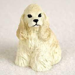 Cocker Spaniel Miniature Dog Figurine - -
