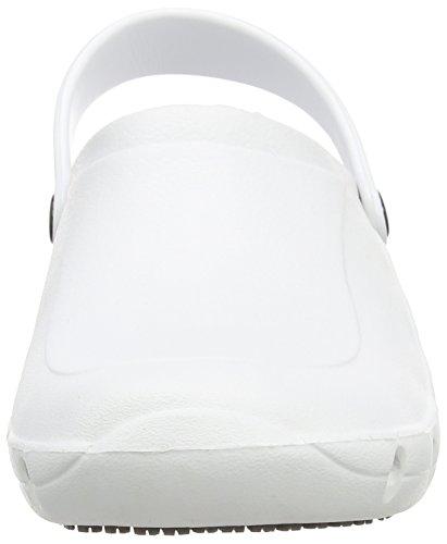 Toffeln Eziklog Unisex-Erwachsene Sicherheitsschuhe, Weiß, 36 EU / 3 UK