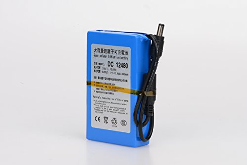 ABENIC DC 12V 4800mAh Super Rechargeable Protable Li-ion Lithium Battery DC12480 (Blue)