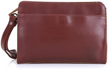 Naladoo Business Men's Leather Clutch Bag Zipper Casual Large Wallets(FBA)
