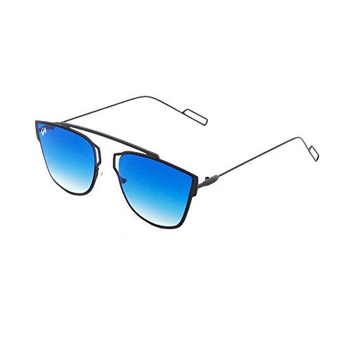 hombre Gafas sol Azul Negro TWIG Degradado de STENDHAL espejo mujer WXppBqrZ