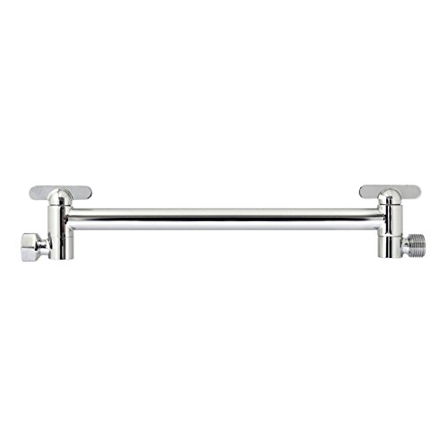 "good MODONA 13"" Adjustable Shower Arm - Made of Solid BRASS – Polished Chrome - 5 Year Warrantee"