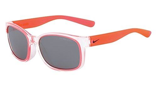 Nike EV0886-906 Spirit Sunglasses (One Size), Clear/Hyper Punch, Grey with Silver Flash Lens (Silver Flash Lenses Grey)