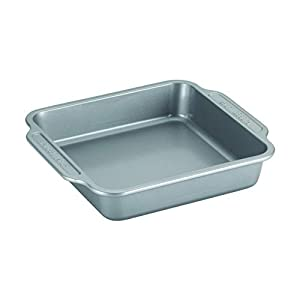 Farberware 46650 Nonstick Steel Bakeware Set with Cooling Rack, Baking Pan and Cookie Sheet Set with Nonstick Bread Pan and Cooling Grid, 10-Piece Set, Gray