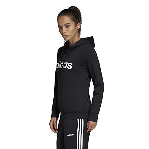 Negro Essentials Blanco Mujer Linear Adidas Hoodie wqfxHH
