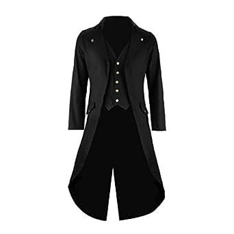 Amazon.com: Mens Black Tailcoat Jacket Gothic Steampunk