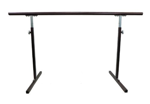 "Softtouch Ballet Barre 5.5ft Portable Dance Bar - Adjustable Height 31"" - 49"" - Freestanding Stretch Barre 66"""