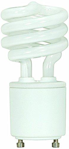 ((2-Pack) Satco S8204 15-Watt 2700K GU24 Base Mini Spiral Compact Fluorescent Lamp, 60W)