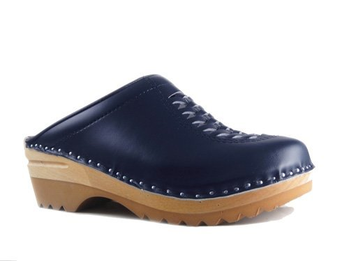 Clogs Unisex Blue stad Troentorp B Navy Leather Wright XR6qd