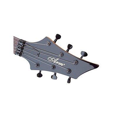 Flame Custom Heavy Metal Guitarra eléctrica con accesorios, color negro: Amazon.es: Instrumentos musicales