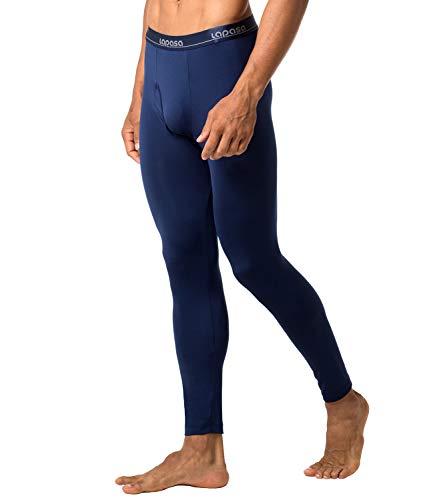 Microfleece Long Underwear - LAPASA Men's Thermal Underwear Pants Fleece Lined Long Johns Leggings Base Layer Bottoms 2 Pack M10 (S Waist 28